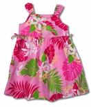 Splendid Monstera Floral Side Tied Small Girls Dress