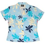 CLOUSEOUT Spring Floral Womens Fitted Blouse
