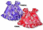 Star Flowers II Girl's Puff Sleeves 2pc