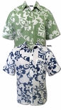 Star Pareau Men's Hawaiian Reverse Print Shirt