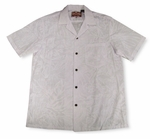 Summer Breeze Men's White White Aloha Shirt