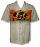 Sunset on the Beach men's cotton aloha shirt