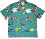CLOSEOUT Drag Racers Men's Vintage Rayon Shirt