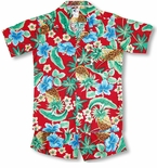 Pineapple Hibiscus boy's size 10 cabana set