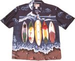 CLOSEOUT Surfing Longboards Men's Rayon Pocket Shirt