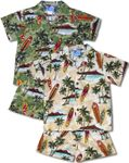 Surfboard Monstera Boys Cabana Set