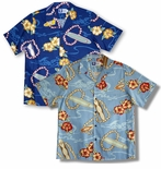 Surfboard Plumeria Lei men's shirt