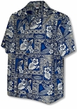 Surfboard Turtle Hibiscus Men's Shirt