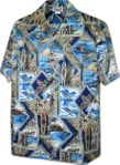 Surfboards and Turtles Mens Cotton Shirt