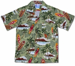 Surfboards Diamond Head boy's aloha shirt