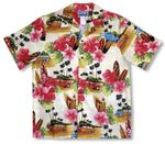 CLOSEOUT Surfboards Hibiscus Woodie men's shirt