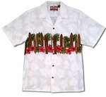 Surfboards Hibiscus Chest Band Men's Aloha Shirt