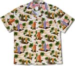 Surfboards at Rest Mens RJC Cotton Aloha Shirt