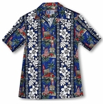 Surfboards Woodie Men's made in Hawaii cotton aloha Shirt