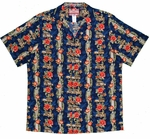 Surfboards Woody Red Hibiscus Panel cotton shirt