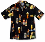 Surfer's Lager Cotton Aloha Shirt - Small & Medium