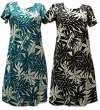 Tahitian Gardenia A Line Cap Sleeve Dress