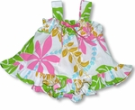Tahitian Vine Lei Girl's 2 pc. Cotton Polyester Cabana Set Hawaiian Aloha Kole Kole Label