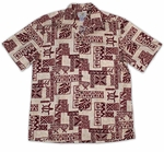 Tapa men's Two Palms cotton aloha shirt