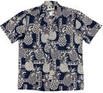 Tapa Pineapple Men's Waimea Casuals Aloha Shirt