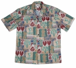Taro men's Two Palms cotton aloha shirt