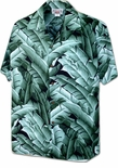 Thick as Leaves Mens Cotton aloha shirt