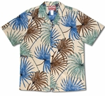 Thin Leaf Tropics Mens Cotton Hawaiian Aloha Shirt