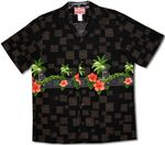 Tiki Hibiscus Chest Band cotton aloha shirt