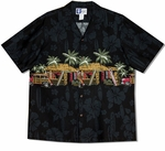CLOSEOUT Tiki Surf Shop chest band aloha shirt