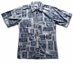 Tiki Tonal Men's Reverse Print Cotton Shirt