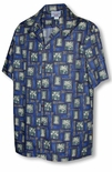 Traditional Island Icons Men's Hawaiian Aloha Shirt