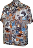 Traditional Symbols Mens  aloha cotton shirt