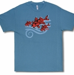 Tribal Kumu Tri Cotton Hawaiian made t-shirt