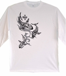 Tribal Mano (Shark) Long Sleeve cotton t-shirt