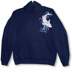 Tribal Shark Pullover Sweatshirt