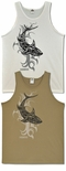 Tribal Shark (Tattoo) Maui, Kauai & Hawaii cotton tank top