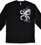 Tribal Tako Long Sleeve Octopus cotton T-shirt