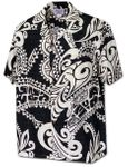 Tribal Tattoo men's made in Hawaii cotton aloha shirt