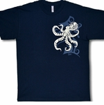 Tribal Tattoo Tako (Octopus) Cotton Tee-Shirt