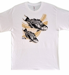 Tribal Tattoo Uhu Hawaiian cotton Fish T-shirt