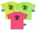 Tribal Turtle Neon Colors Tee Shirt
