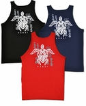 Tribal Turtle Tattoo cotton tank top