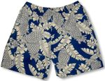 Tropic Pineapple Leaf Men's Swim Trunks