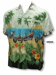 Tropical Beach Choppers Men's Terivoile Rayon Shirt