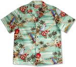 CLOSEOUT Tropical Birds Plumeria Lei Men's Shirt