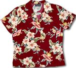 Tropical Blooms Womens Fitted Blouse