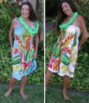 Tropical Bouquet Batik One Size Tube Dress