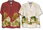 Tropical Fan Tree Mauka Men's Rayon Shirt