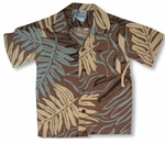 Tropical Ferns Boy's Hawaiian 100% Rayon Shirt