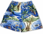 Tropical Fish men's & boy's cargo shorts